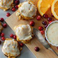 Pumpkin Cranberry Cookies with Orange Glaze