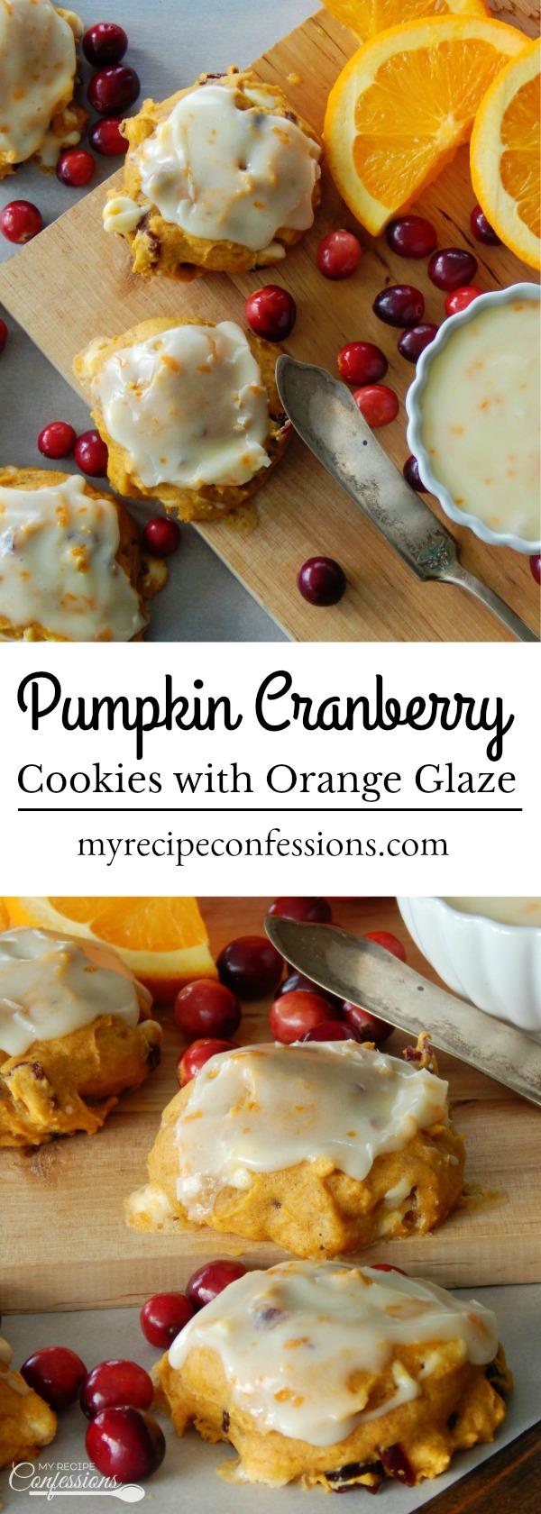Pumpkin Cranberry Cookies with Orange Glaze - My Recipe ...