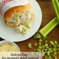 Quick and Easy Hot Shredded Chicken Sandwiches