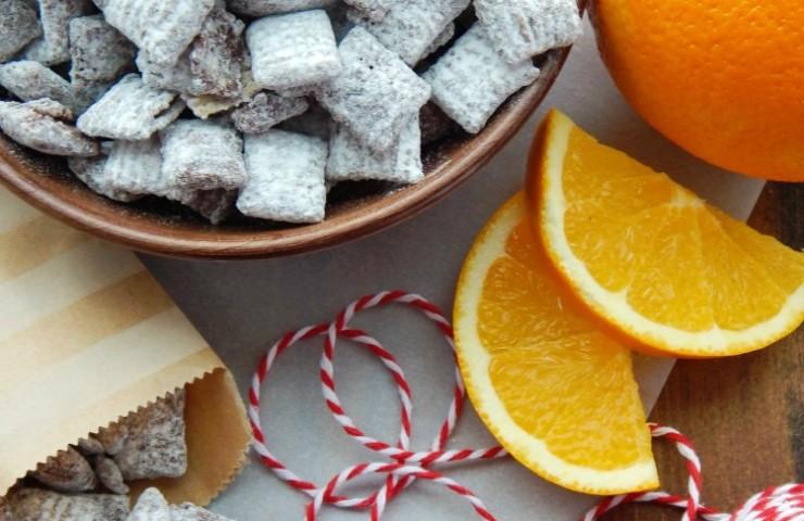 4 Ingredient Chocolate Orange Muddy Buddies