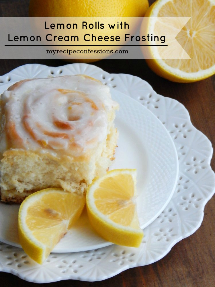 Lemon Rolls with Lemon Cream Cheese Frosting. These rolls are so soft ...