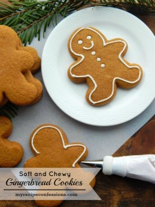 Soft and Chewy Gingerbread Cookies are the best holiday treat! This recipe is easy and the cookies don't spread and they stay soft for days. It's a fun Christmas tradition to decorate them with the family.