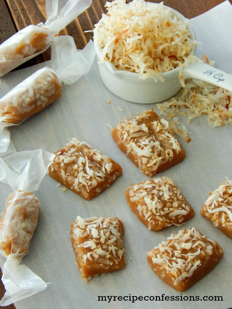 Toasted Coconut Caramel. These caramels are so soft and rich in flavor. Toasted coconut and caramel are a match made in heaven! This recipe is easy to follow recipe makes the best homemade caramels you will ever taste!