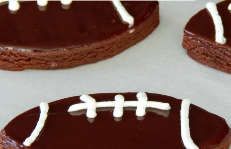 Chocolate Sugar Cookie Footballs