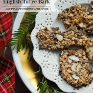 English Toffee Bark. English toffee isn't just for Christmas, you should enjoy it all year long! This is one of those cheater recipes that taste just as good as the original. It is quick and easy to make and will put a big smile on your face!