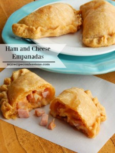 Ham and Cheese Empanadas. Mom use to make these empanadas for Christmas. They make great appetizers for parties. If you need dinner recipes, they make a great meal too! Don't mess around with other recipes, this is the only one your need!