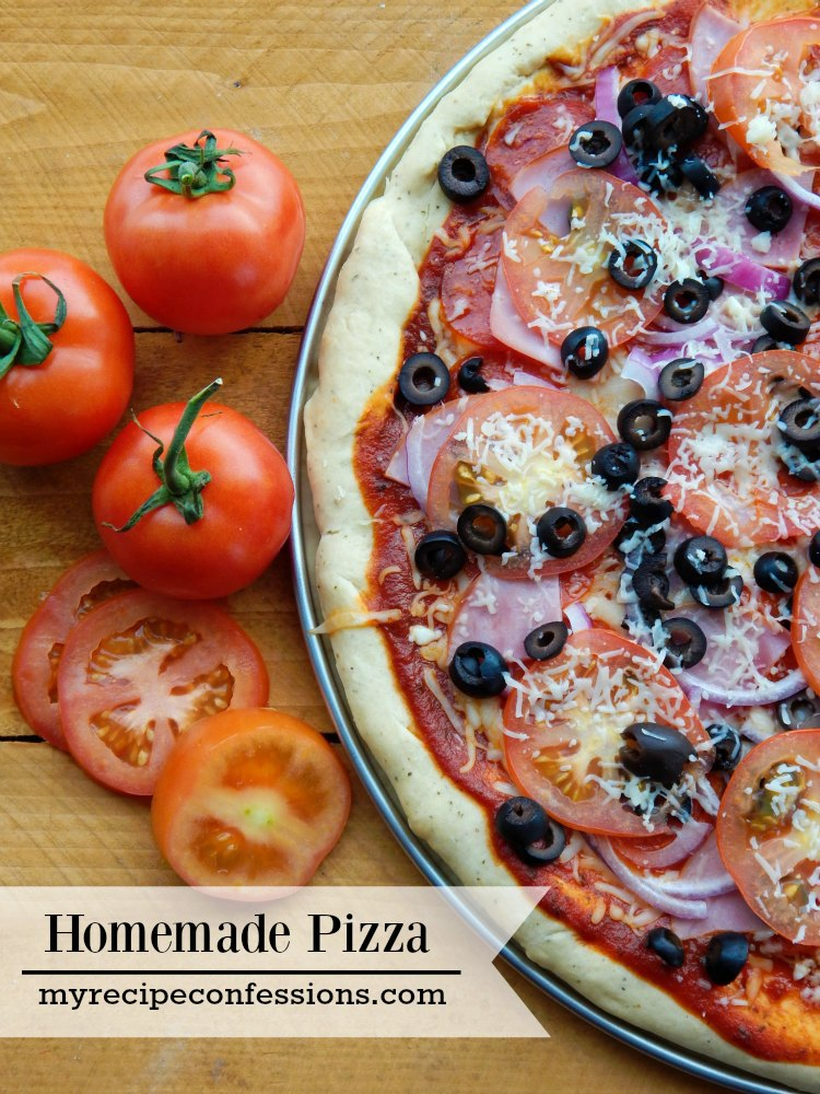 Homemade Pizza has always been one of my favorites! This recipe is incredible! The crust is so flavorful and the sauce is out of this world. This Homemade Pizza is the best recipe you will ever taste and its super easy to make too!
