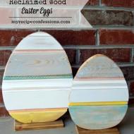 Reclaimed Wood Easter Eggs