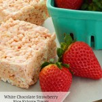 White Chocolate Strawberry Rice Krispie Treats