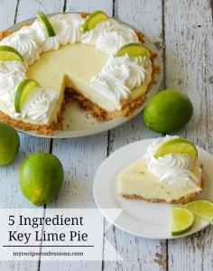5 Ingredient Key Lime Pie.