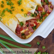 Breakfast Enchiladas. My kitchen smelled amazing when these dish was baking. My family loves to eat breakfast for dinner and this recipe was a huge hit! I have tried smiliar recipes and none of them measure up to this one! It would be a dish to serve at a brunch or even on Easter or Christmas morning.