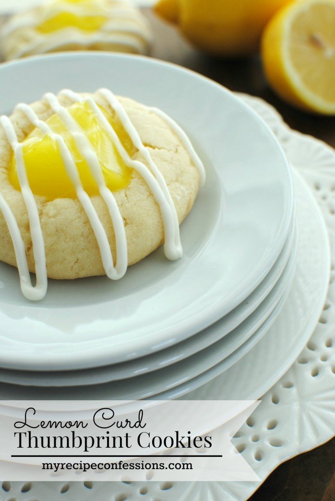 Lemon Curd Thumbprint Cookies. Summer can't come soon enough, but at least, I can eat these cookies while I wait for warmer weather. This is one of my favorite cookie recipes. They are light and fluffy with the perfect hint touch of lemon and a creamy glaze drizzled on top.