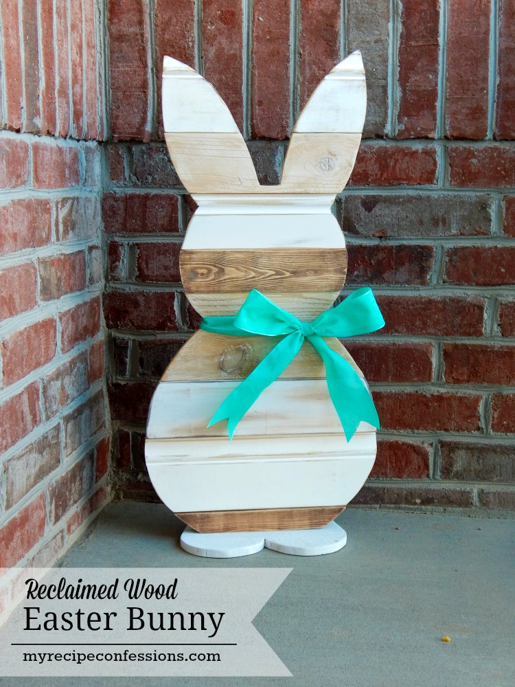 Reclaimed Wood Easter Bunny. This Was A Fun Diy Easter Project! The  Reclaimed Wood