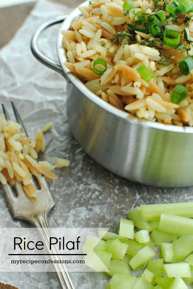 Rice Pilaf. Cut the time you spend in the kitchen in half with this recipe. All the other rice pilaf recipes take so much longer to make. This one is really is quick and the results are out of this world! Add this recipe to all you other easy dinner recipes for a home run meal!
