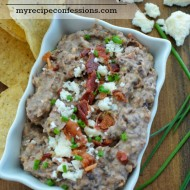 Black Bean and Bacon Dip. You will not have to spend a lot of time in the kitchen making this dip. The bacon give the dip a smoky flavor that is amazing paired with the black beans. It is best served hot with tortilla chips. Serve it with your other appetizers at your Cinco de Mayo party. Everybody will be asking for the recipe.
