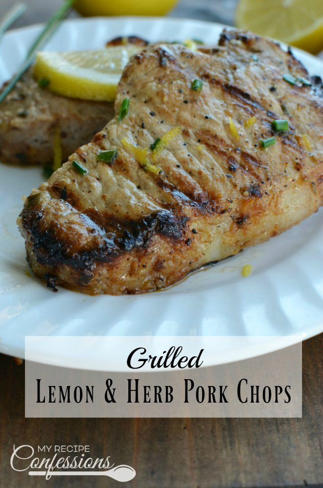 Grilled Lemon Garlic Pork Chops. Just when you thought Summer couldn't get any better, this recipe came along. Don't sweat in the kitchen trying to make dinner each night. Take it outside to the grill with this easy dinner. These pork chops are bursting with flavor and beat out all the other pork chops recipes!