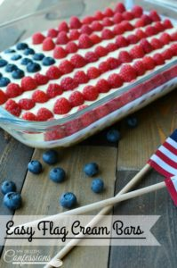 Easy Flag Cream Bars-This Easy Flag Cream Bars will be the hit at your party! They are so easy and quick to make you will be out the door in no time. This dessert is rich and creamy and I never have any leftovers. Everybody always wants the recipe.
