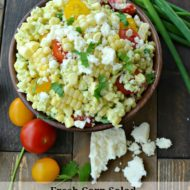 Fresh Corn Salad with Avocado Cilantro Dressing