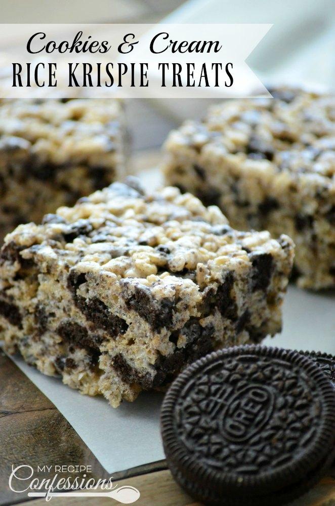 Cookies Cream Rice Krispie Treats My Recipe Confessions
