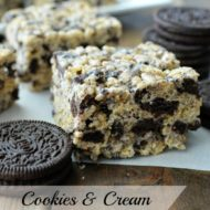 Cookies & Cream Rice Krispie treats