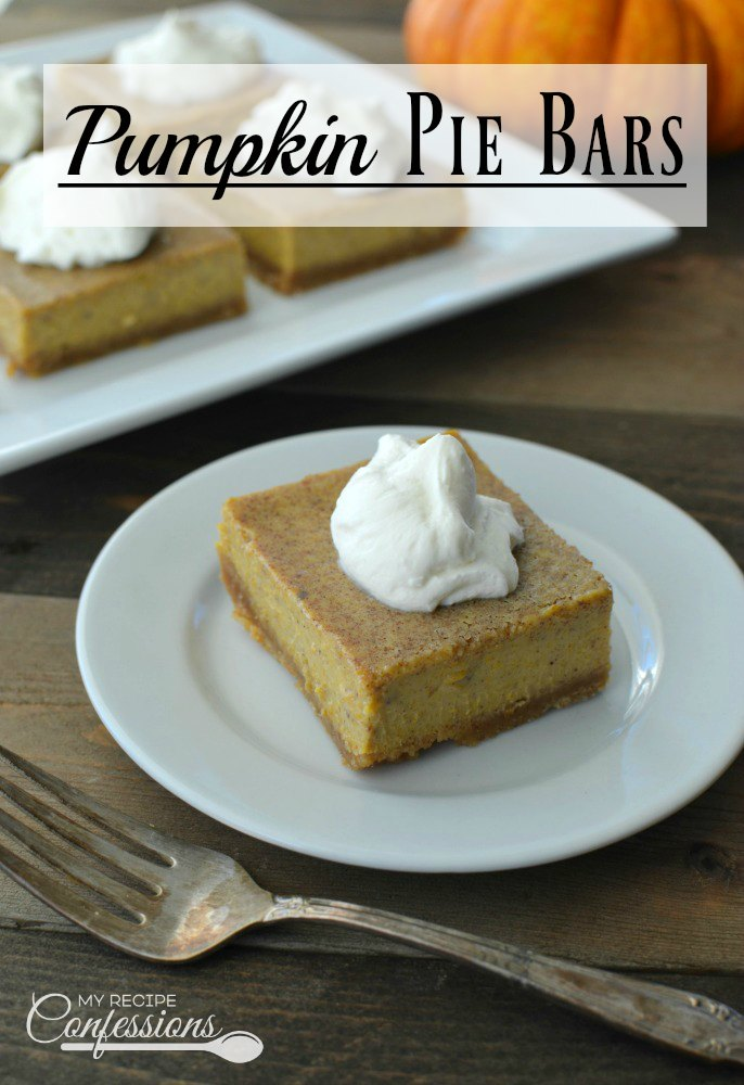 Pumpkin Pie Bars My Recipe Confessions