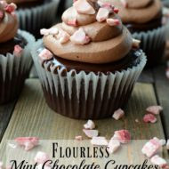 Flourless Mint Chocolate Cupcakes