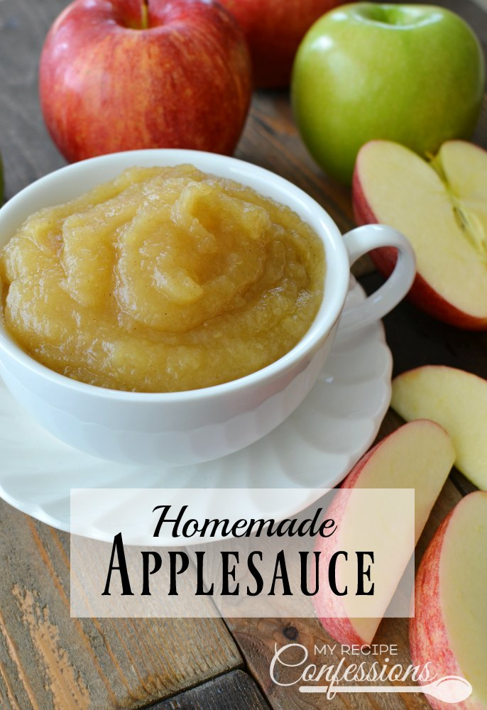 Homemade Applesauce is so easy and delicious, you will never buy it from the store again! Just a few minutes on the stovetop and walla, you have the best applesauce EVER! My family loves this recipe and I plan on making it over and over again.