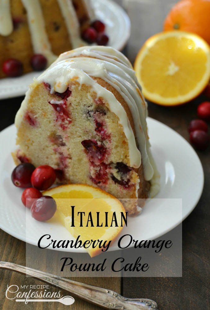 Italian Cranberry Orange Pound Cake is the best holiday recipe ever! It is soft, fluffy, and loaded with flavor. I have to give most of the cake away when I make it because I want to eat it all myself. My family loves this cake so much I am going to make it our new holiday tradition. The recipe is so easy to follow and it's worth every minute you spend in the kitchen!