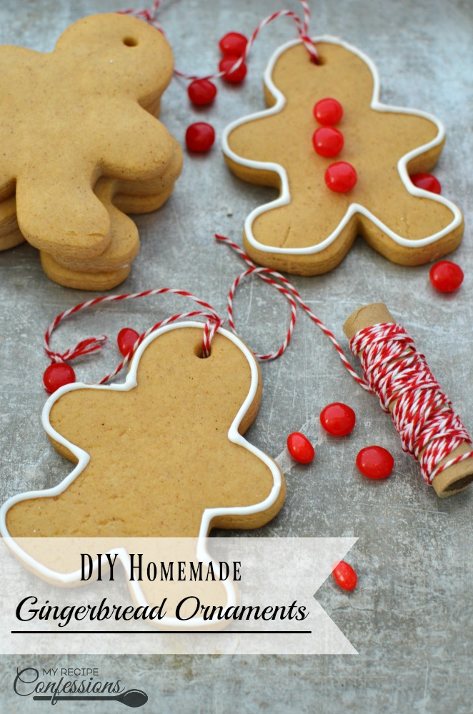 Easy Homemade Gingerbread Ornaments are a fun Christmas craft to make with your family. I like making these Easy Homemade Gingerbread Ornaments because they are quick and kid friendly. One batch goes a long way. If you prefer to make gingerbread houses, this recipe great for that too.