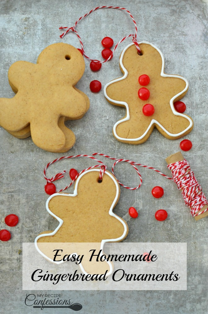 Easy Homemade Gingerbread Ornaments - My Recipe Confessions