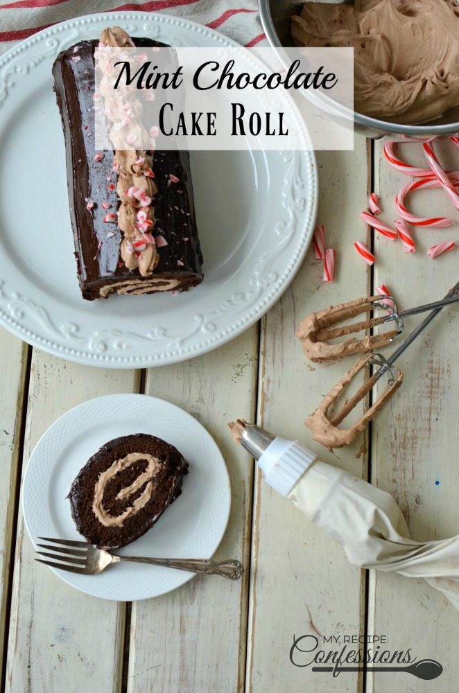 Mint Chocolate Cake Roll is a moist chocolate cake filled with a mint chocolate mousse and topped with a smooth mint ganache. It's a chocolate lovers dream! This is the only dessert recipe you will need this holiday season. Trust me, everybody is going to be asking for the recipe!