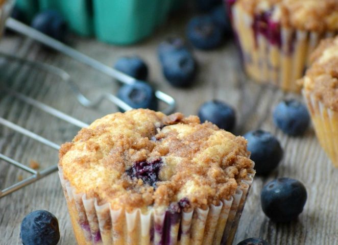 Blueberry Streusel Muffins are the best muffins you will ever taste! They are soft, fluffy, and practically melt in your mouth. I love how quick and easy they are to make. You won't find an easier muffin recipe! Serve these muffins for breakfast, brunch, or just because you can't stop thinking about them!