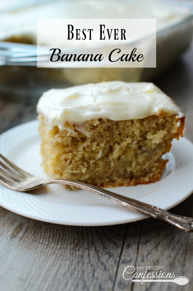 Recipe For Best Ever Banana Cake With Cream Cheese Frosting