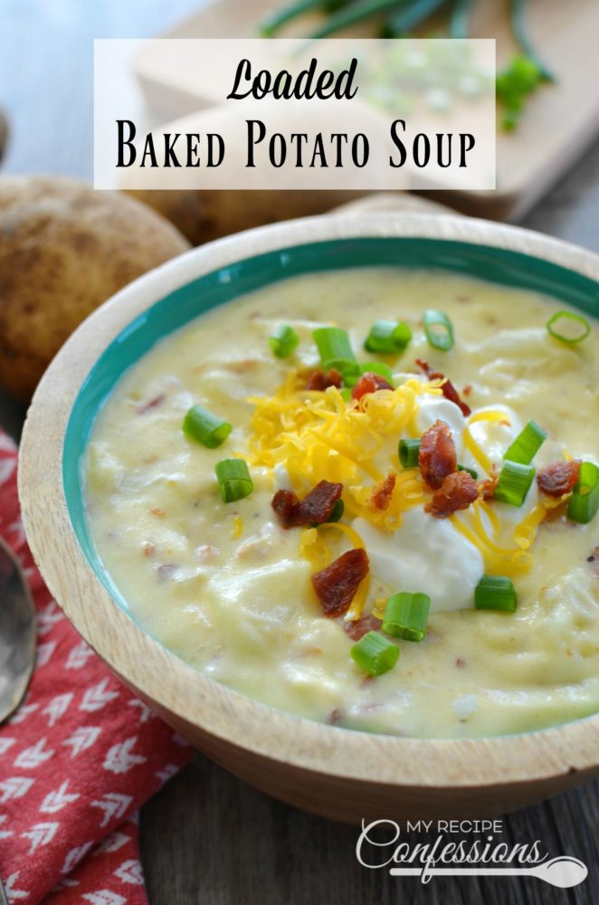 This Loaded Baked Potato Soup is the best soup recipe you will ever find! Not only is is super quick and easy to make, it loaded with flavor. My family loves the smoky bacon and green onions throughout the soup. This soup is the ultimate comfort food and makes the perfect dinner any night of the week!