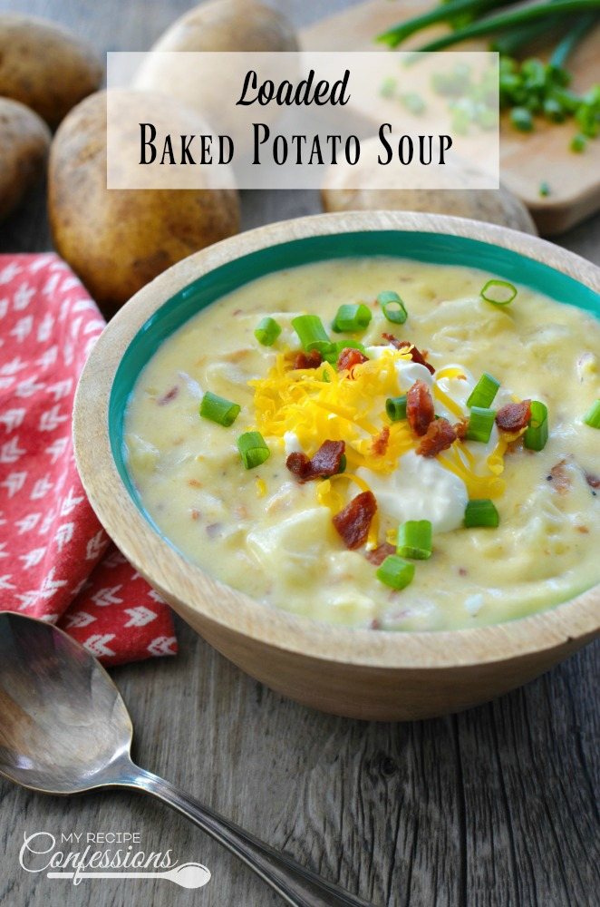 Loaded Baked Potato Soup is the best soup recipe you will ever find! Not only is is super quick and easy to make, it loaded with flavor. My family loves the smoky bacon and green onions throughout the soup. This soup is the ultimate comfort food and makes the perfect dinner any night of the week!