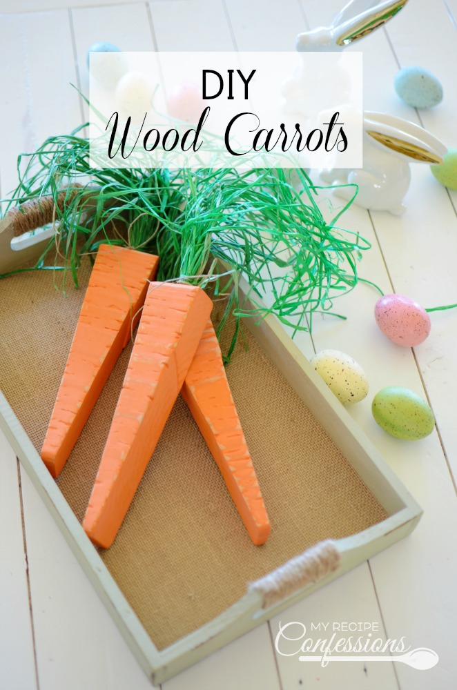 DIY Wood Carrots are the perfect addition to my Easter Decor. You will be shocked when you see how easy they are to make. Just think how cute these DIY Wood Carrots would be along with all your other Easter and Spring Decor.