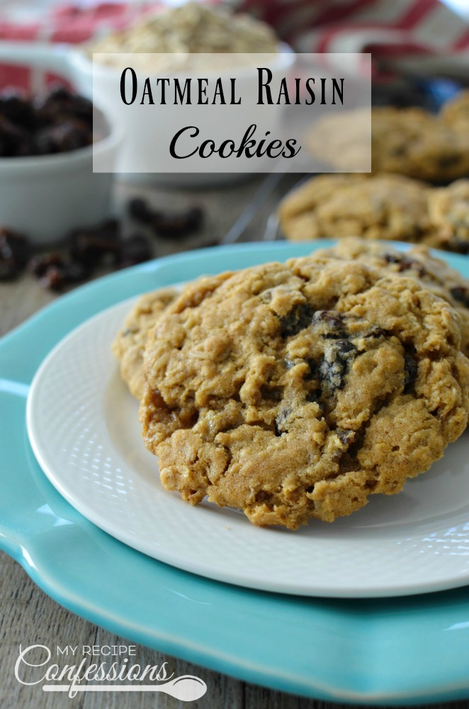 Oatmeal Raisin Cookies My Recipe Confessions
