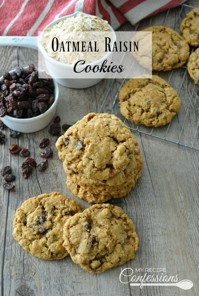 These Oatmeal Raisin Cookies are the BEST EVER! They are super soft and chewy, and the flavor is out of this world! This recipe is quick, easy, and makes the perfect oatmeal raisin cookies every time. My family devoured them, even my picky eater loved them.