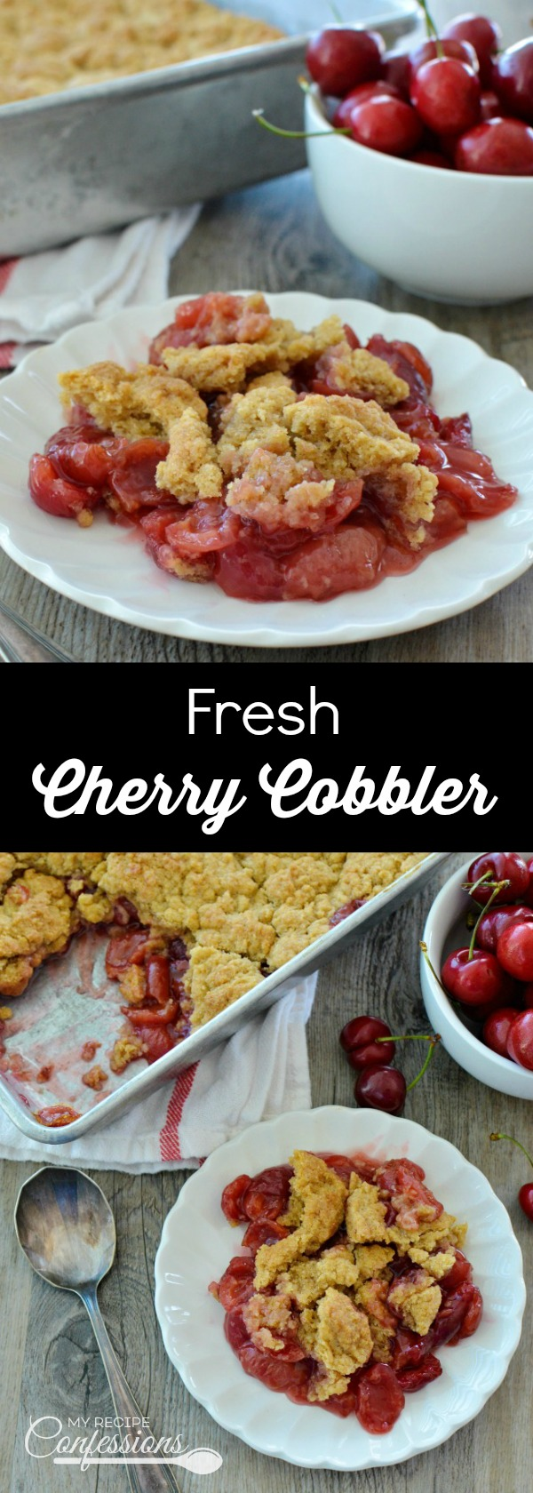 Fresh Cherry Cobbler is the best cobbler EVER! This recipe is easy to ...