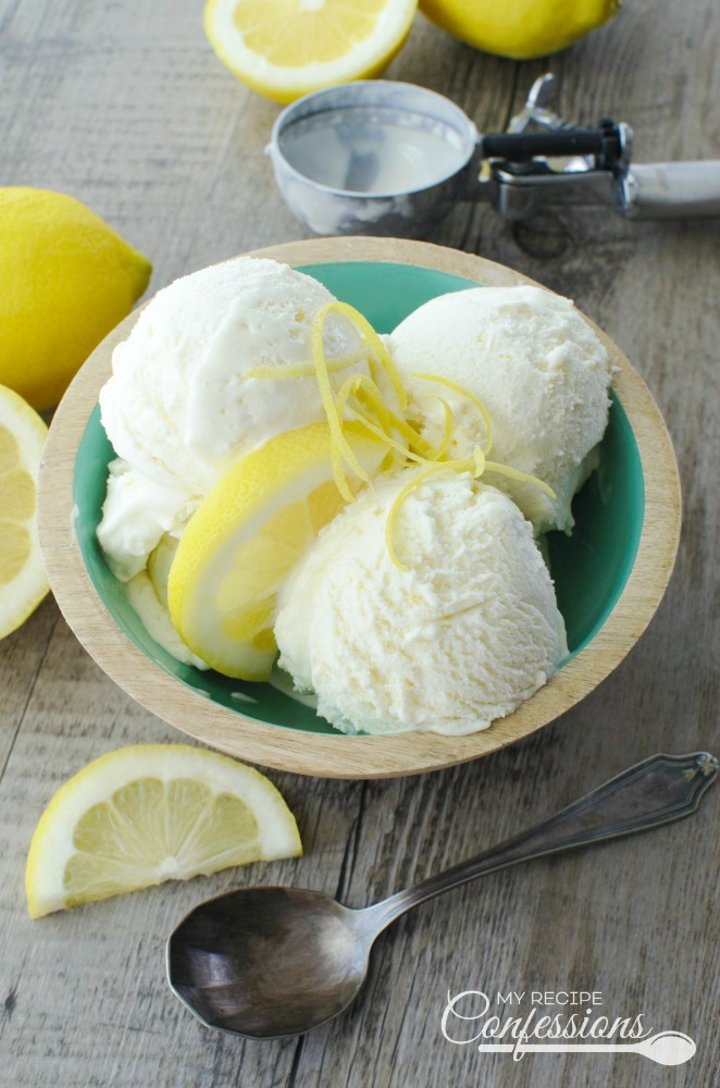 Lemon Ice Cream is the easiest ice cream recipe you will ever make! It is so smooth and creamy with the perfect pop of lemon. I love how refreshing it is. This ice cream is the perfect summer dessert to serve at your next barbecue!