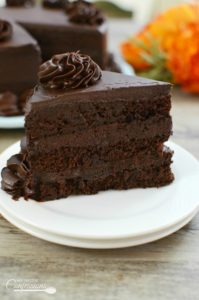 Ultimate Homemade Chocolate Cake is THE BEST RECIPE EVER! It is so moist and very easy to make. It tastes just like the Chocolate Tower Cake from the Cheesecake Factory!