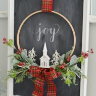 Christmas Embroidery Hoop Wreath
