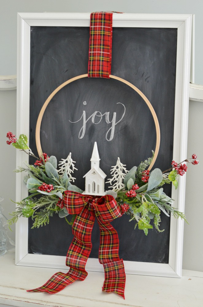 Christmas Embroidery Hoop Wreath My Recipe Confessions