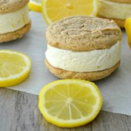 Lemon Cheesecake Ice Cream Sandwiches