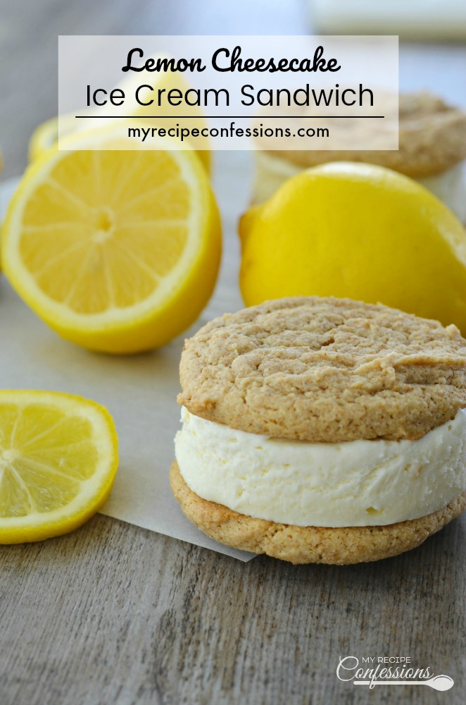 Lemon Cheesecake Ice Cream Sandwich is a sweet and refreshing dessert. The lemon ice cream is sandwiched between two soft and chewy graham cookies. This recipe is not only delicious, it's very easy to make too!