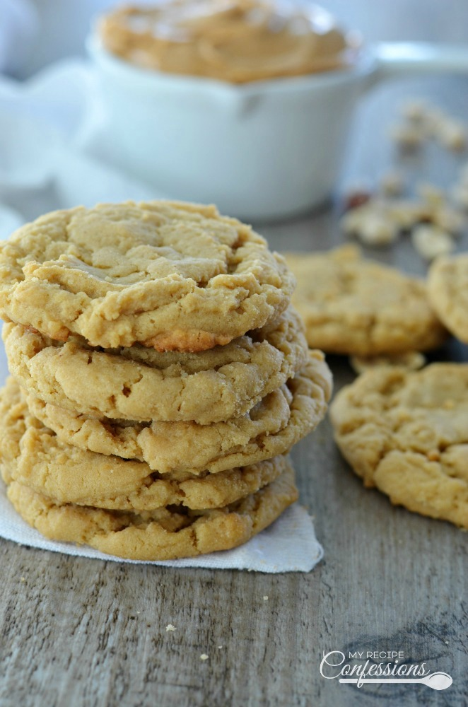 Peanut Butter Cookies are the best cookies ever! The peanut butter really shines in these soft and chewy cookies. This recipe is so easy anybody can make them and they will stay soft for days.